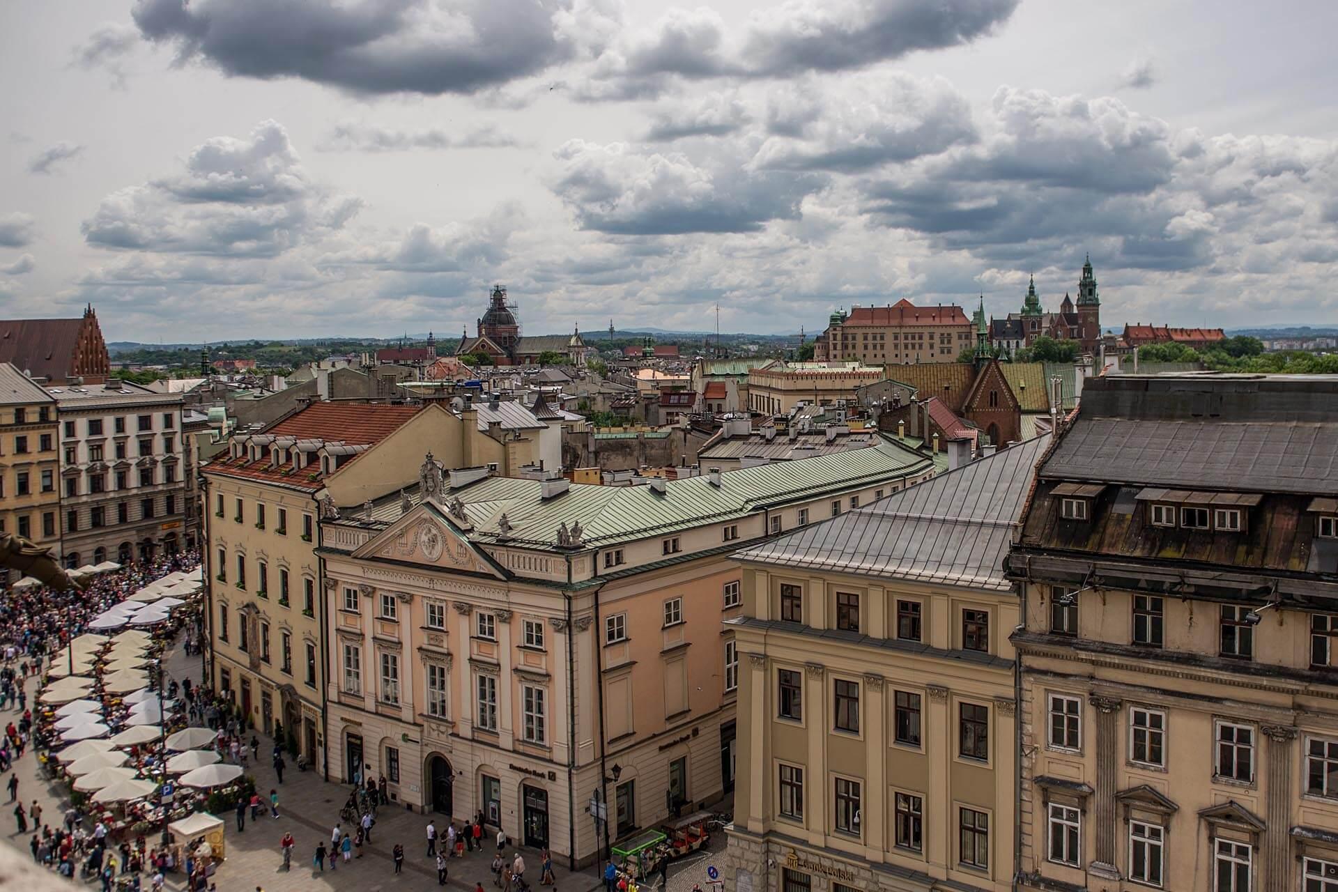 krakow widok na rynek główny
